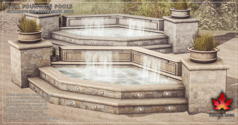 Evia Fountain Pools for Collabor88 June