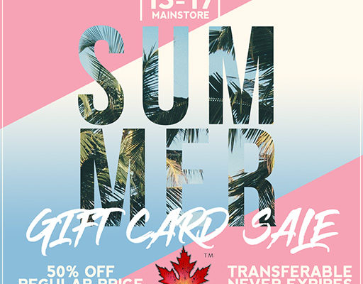 Summer Sale – 50% Off Gift Cards June 15-17