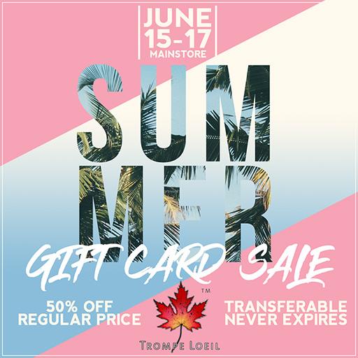 Summer Sale – 50% Off Gift Cards June 15-17