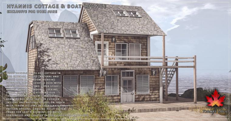 Hyannis Cottage & Boat Lounge for Uber June