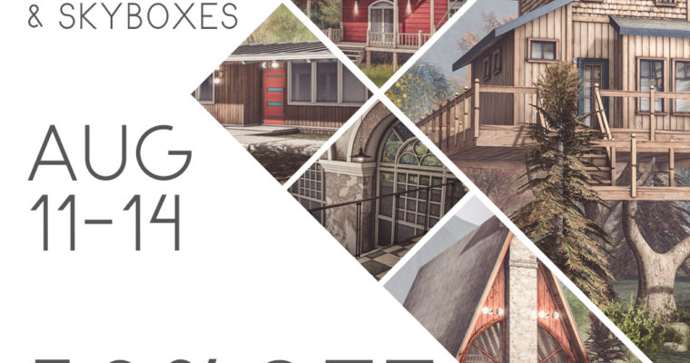 50% Off Prefabs & Skyboxes Aug 11-14 Mainstore Only