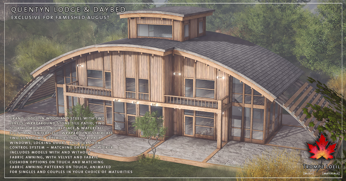 Trompe Loeil – Quentyn Lodge & Daybed for FaMESHed August