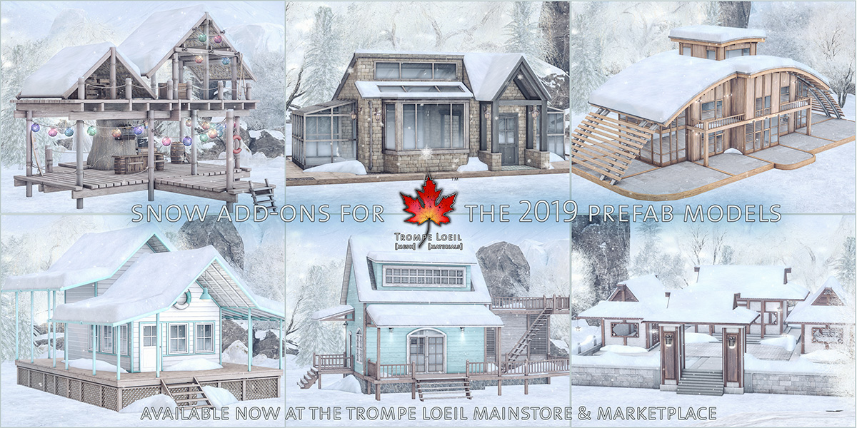 Snow Add-Ons for the 2019 Prefab Models at the Mainstore and Marketplace