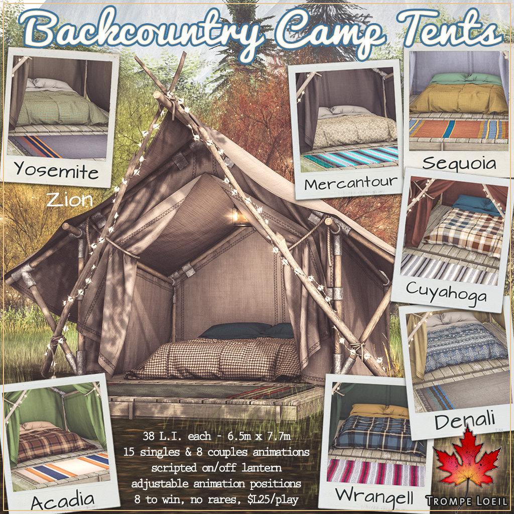 Backcountry Camp Tents Gacha for The Arcade September