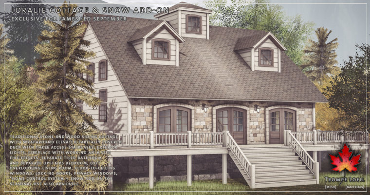 Joralie Cottage & Snow Add-On for FaMESHed September