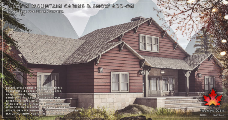 Ellison Mountain Cabin & Snow Add-On for Uber October