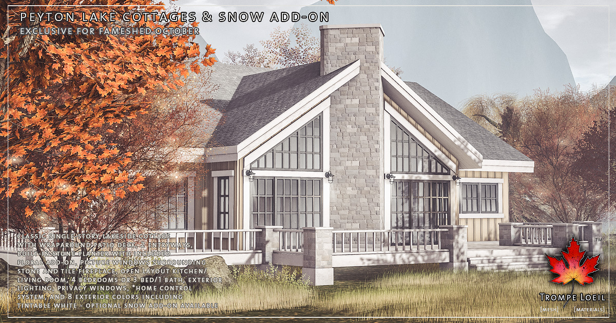 Peyton Lake Cottages & Snow Add-On for FaMESHed October