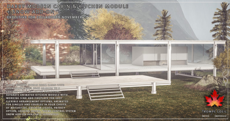 Darby Modern Cabin & Kitchen + Snow Add-On for Collabor88 November