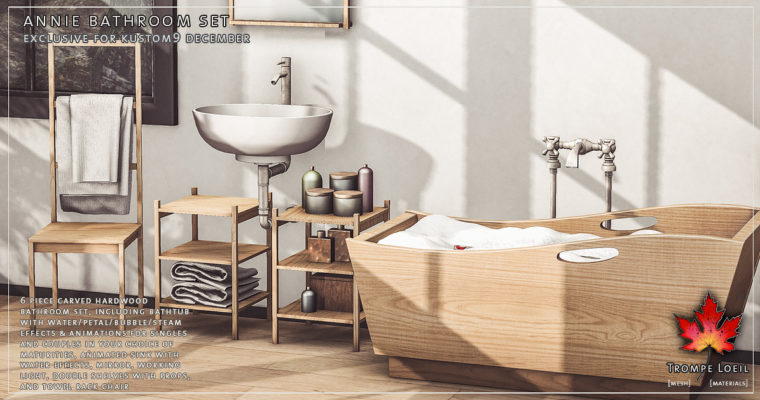 Annie Bathroom Set for Kustom9 December