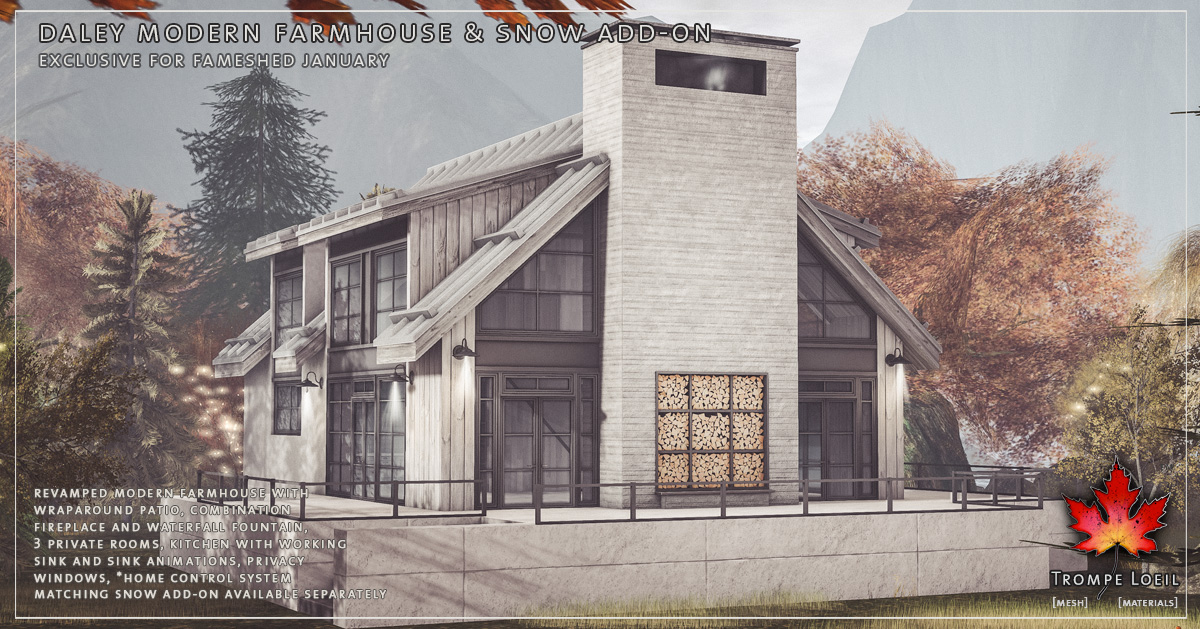 Daley Modern Farmhouse & Snow Add-On for FaMESHed January