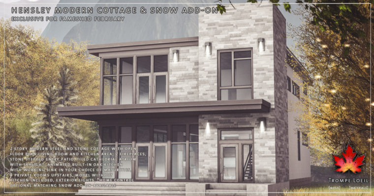 Hensley Modern Cottage & Snow Add-On for FaMESHed February