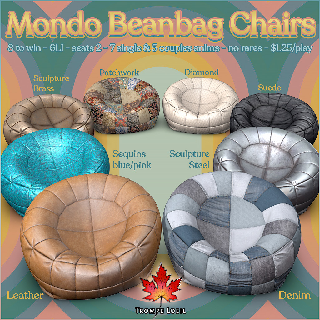 Mondo Beanbag Chairs Gacha for The Arcade June