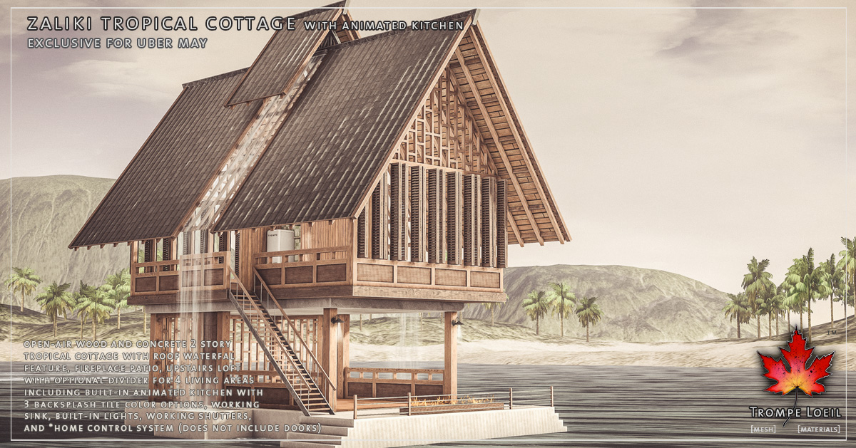 Zaliki Tropical Cottage for Uber May