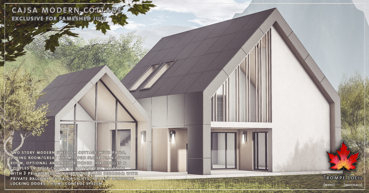 Cajsa Modern Cottage for FaMESHed July