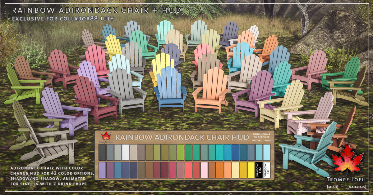 Rainbow Adirondack Chairs for Collabor88 July