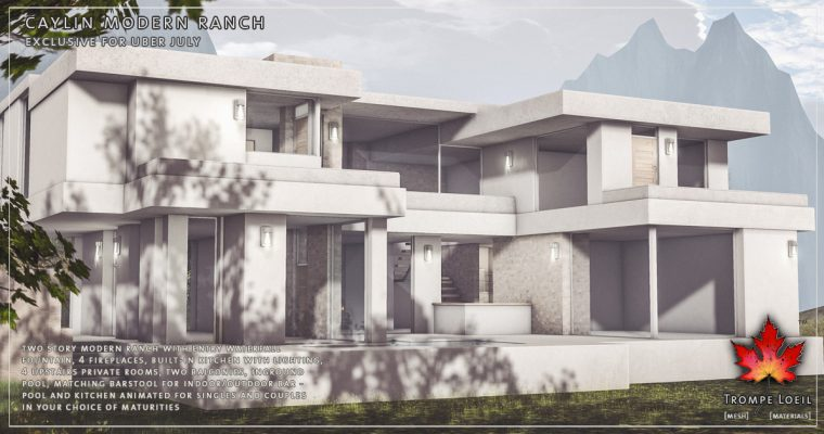 Caylin Modern Ranch for Uber July