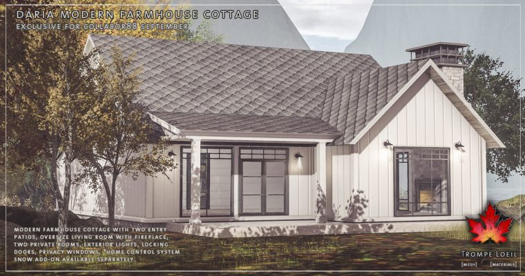 Daria Modern Farmhouse Cottage for Collabor88 September