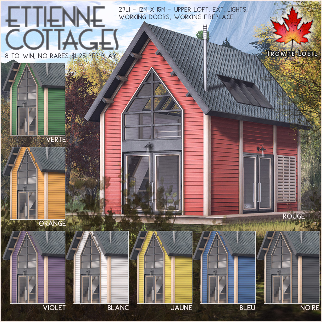 Ettienne Cottages Gacha for The Arcade September