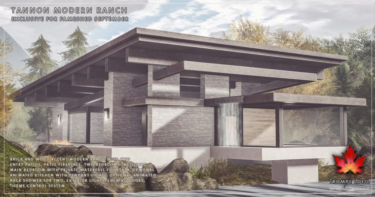 Tannon Modern Ranch for FaMESHed September