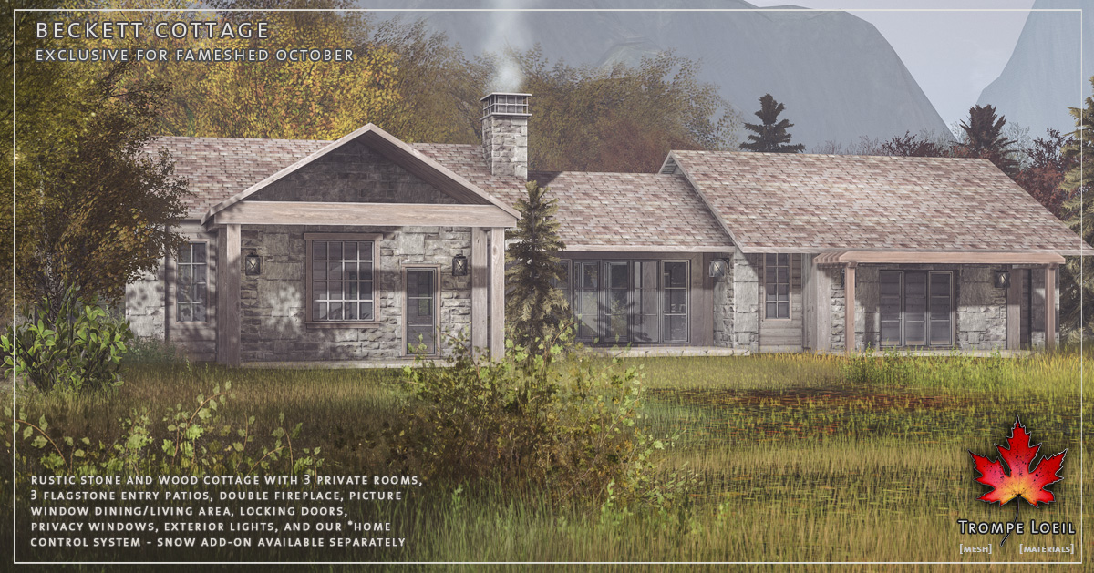 Beckett Cottage & Snow Add-On for FaMESHed October
