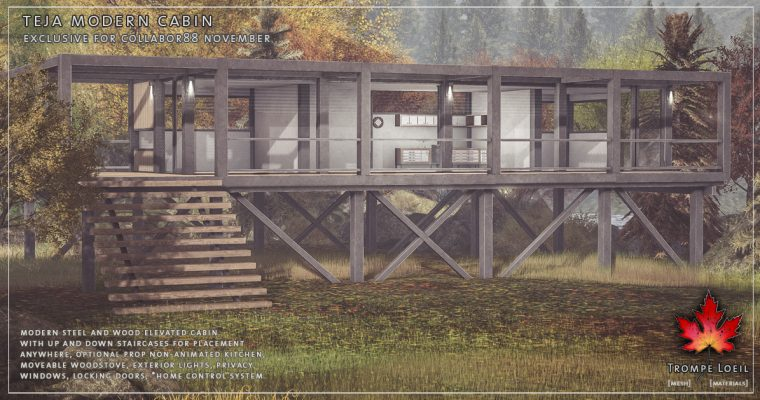 Teja Modern Cabin for Collabor88 November