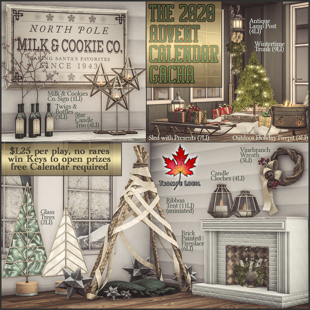The 2020 Advent Calendar Gacha for The Arcade December