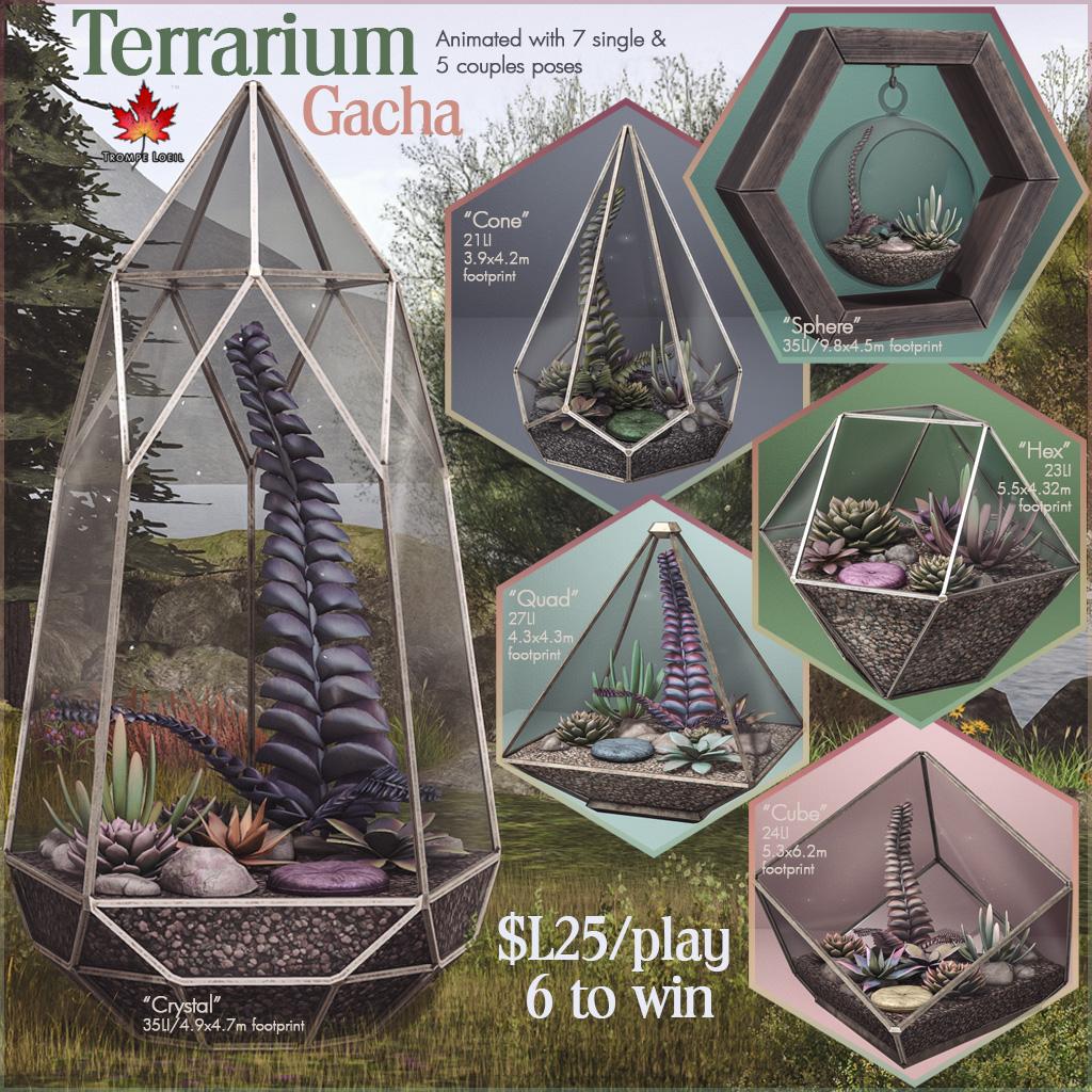 Terrarium Gacha for The Arcade March
