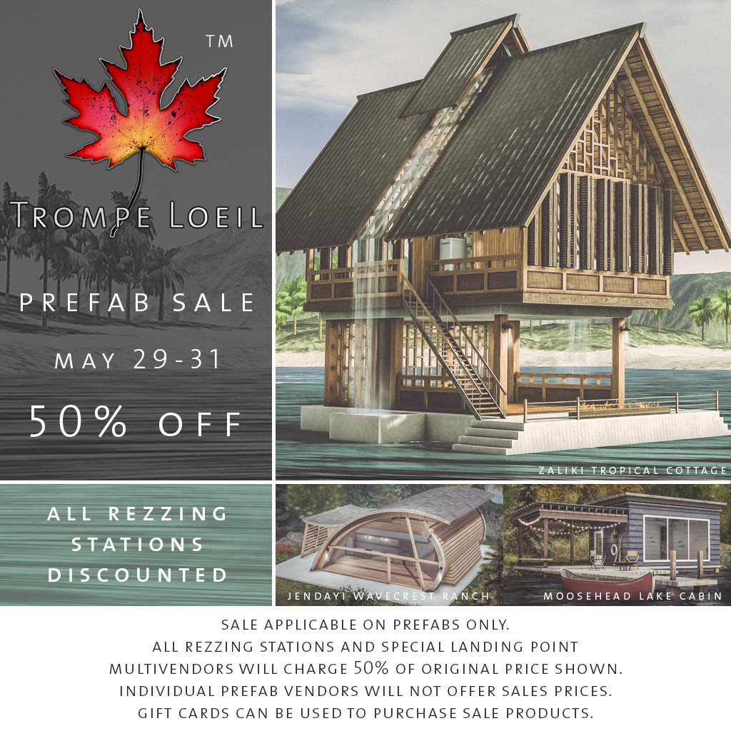 50% Off Prefabs Sale May 29-31 + New Stay At Home Special