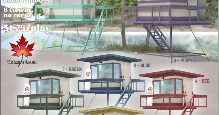 Lifeguard Stations Gacha for The Arcade June