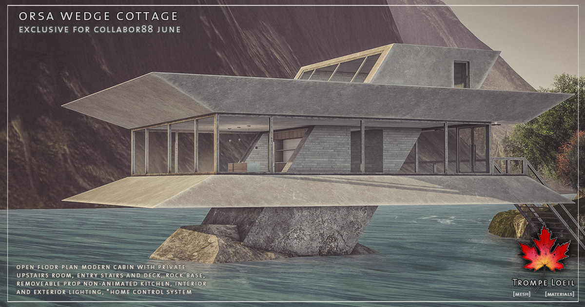 Orsa Wedge Cottage for Collabor88 June