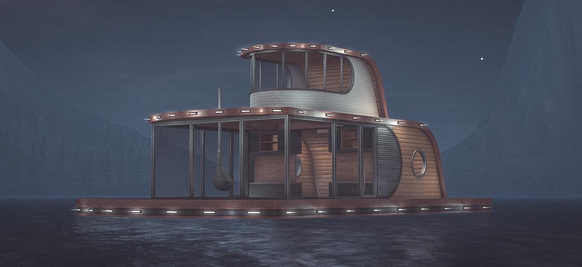 Jocosa Modern Houseboat