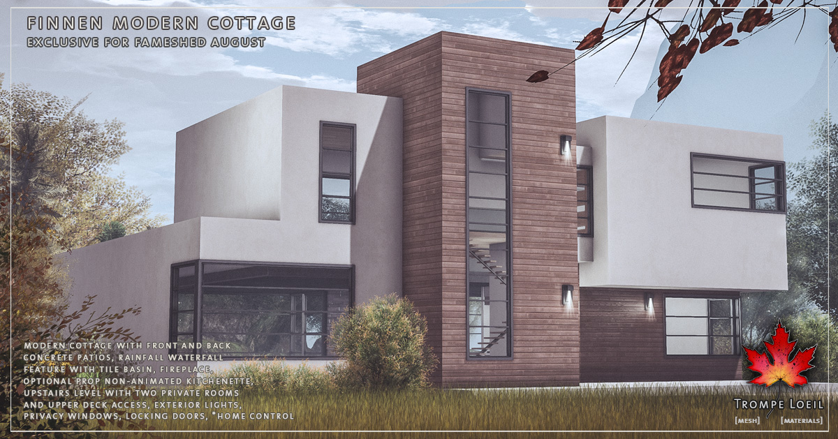 Finnen Modern Cottage for FaMESHed August