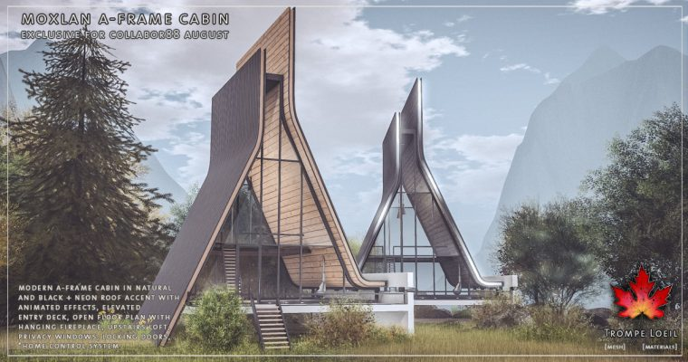 Moxlan A-Frame Cabin for Collabor88 August