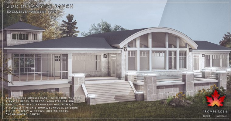 Zuo Oceanside Ranch for Uber July