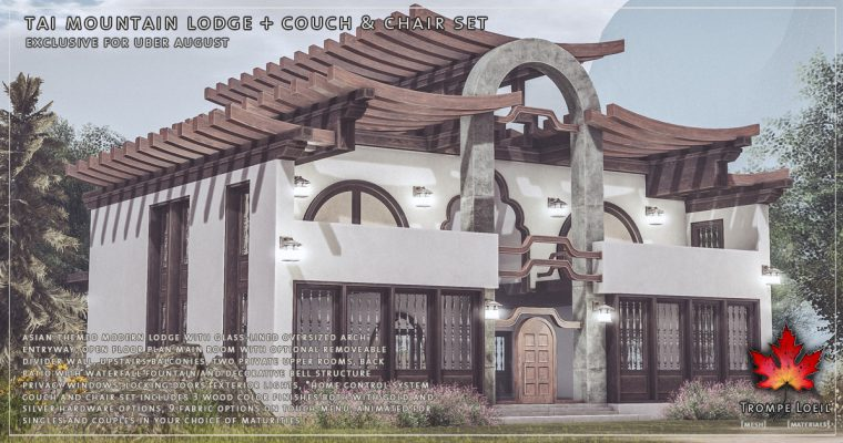 Tai Mountain Lodge + Couch & Chair Set for Uber August